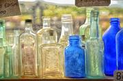 Antique Bottles Print by Tamera James