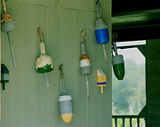 Buoys Photos - Antique Buoys by Marjorie Imbeau