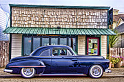 Hotrod Posters - Antique Car - Blue Poster by Carol Leigh