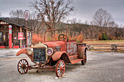 Antique Car And Filling Station 1 Print by Douglas Barnett