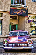 Pink Hot Rod Photos - Antique Car by Carol Leigh