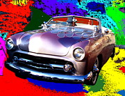 Opus Digital Art Posters - Antique Car  Poster by Romy Galicia
