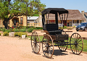Old Country Roads Prints - Antique Carriage in Round Top Texas  Print by Connie Fox