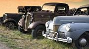 Rural America Prints - Antique Cars Along the Road in Rural America Print by Carol M Highsmith