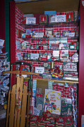 Dime Store Posters - Antique Christmas Store Display Poster by Sally Weigand