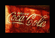 Antique Coca Cola Sign Posters - Antique Coca-Cola Cooler II Poster by Stephen Anderson