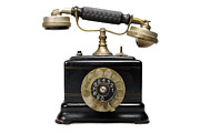 Communication Photos - Antique dial telephone by Sami Sarkis