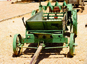 Bill Alexander Digital Art - Antique farm spreader wagon by Bill Alexander