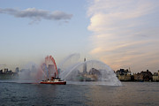All - Antique Fire Boat on the Hudson by John and Lisa Strazza