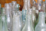 Antique Bottles Framed Prints - Antique Glass Bottles Framed Print by Bryan Mullennix