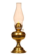 Hurricane Lamp Photos - Antique Hurricane Lamp by Olivier Le Queinec