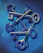 Antique Keys Print by Kelley King