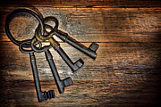Wood Castle Posters - Antique Keys Poster by Olivier Le Queinec