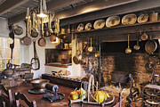 Kitchen Interior Posters - Antique Kitchen Poster by Jeremy Woodhouse