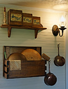 Crocks Metal Prints - Antique Kitchen Wares Metal Print by Carmen Del Valle