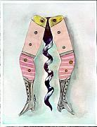 Wine Legs Framed Prints - Antique Ladies Leg Corkscrew Framed Print by Peter Lau