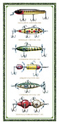 Jon Q Wright Posters - Antique Lure Panel Poster by JQ Licensing