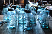 Antique Mason Jars Print by Mark Sellers