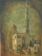 Jaffo Jaffer Art - Antique Minar by Jaffo Jaffer