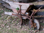 Rusted Dashboard - Antique Mini Plow by Pauline Ross
