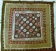 Antique Tapestries - Textiles - Antique mochi chakla needal work by Indian artist 