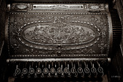 Cash Register Posters - Antique NCR - Sepia Poster by Christopher Holmes