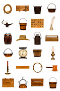 Assorted Posters - Antique Objects Collection Poster by Olivier Le Queinec
