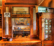 Washington Post Framed Prints - Antique Post Office at the General Store -  Framed Print by Lee Dos Santos