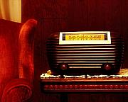 Kelley King Prints - Antique Radio Print by Kelley King