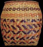 Rare Tapestries - Textiles - Antique Rivercane Basket by Rowena Bradley