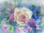 Roses Painting Posters - Antique Rose Poster by Arline Wagner