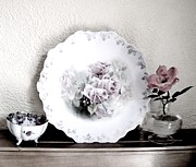 Shelf Digital Art - Antique Roses Of Old by Marsha Heiken