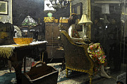 Curio Art - Antique Shop I Night USA by Sally Rockefeller