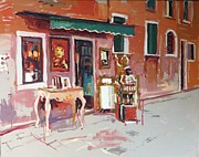 Antiques Paintings - Antique shop Venice by Haidee-Jo Summers