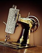 Singer Photos - Antique Singer Sewing Machine 2 by Kelley King