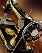 Singer  Photos - Antique Singer Sewing Machine 3 by Kelley King