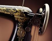 Singer  Photos - Antique Singer Sewing Machine 4 by Kelley King