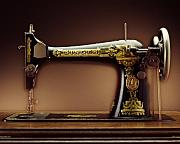 Singer Photo Posters - Antique Singer Sewing Machine Poster by Kelley King