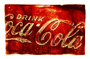Antique Coca Cola Sign Art - Antique soda cooler 2A by Stephen Anderson