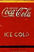 Antique Coke Sign Posters - Antique soda cooler 6 Poster by Stephen Anderson