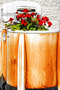 Kathleen K Parker Metal Prints - Antique Speed Queen Washing Machine Metal Print by Kathleen K Parker