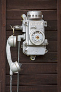 Wall-mounted Posters - Antique Telephone Poster by Jaak Nilson