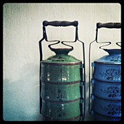 Still Life Art - Antique Tiffin Carriers by Michael Ong