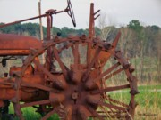 Garden Plow Photos - Antique Tractor by Betty Northcutt