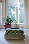 Trees Light Windows Prints - Antique Typewriter Print by Ben Sandall