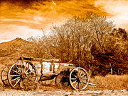 Porcupine Hills Posters - Antique Wagon Poster by Nadine and Bob Johnston