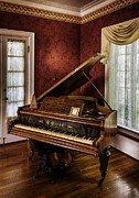 Swag Posters - Antique Wein Grand Piano Poster by Lynn Palmer