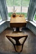 Write Prints - Antique Writing Desk Print by Jill Battaglia