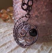 Woven Jewelry Originals - Antiqued Copper Necklace by Lorin Phillips