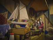 Toy Boat Posters - Antiques in Attic Poster by Jiayin Ma